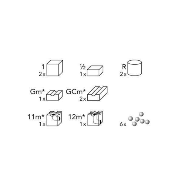 cuboro - extensie cugolino magic - circuit bile swiss made - in Romania prin Didactopia by Evertoys