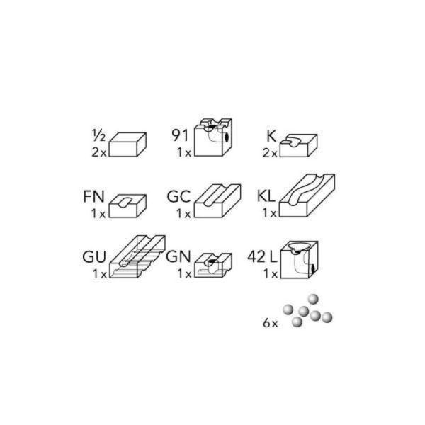 cuboro - extensie cugolino sub - circuit bile swiss made - in Romania prin Didactopia by Evertoys