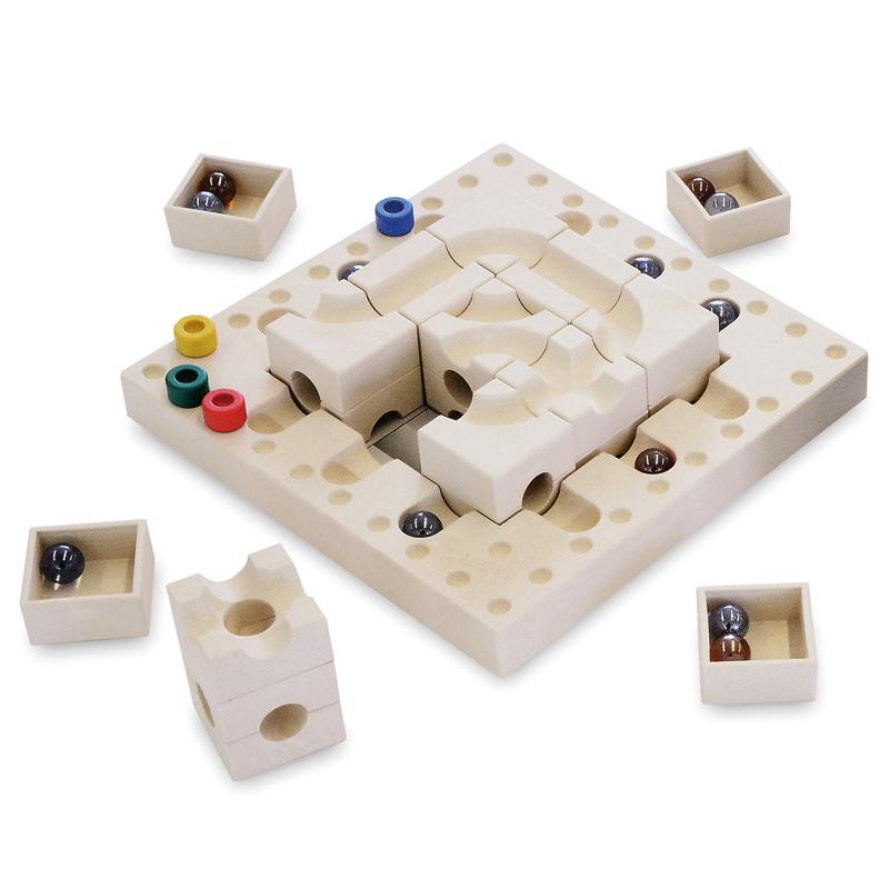 cuboro tricky ways fasal - joc boardgame - circuit bile swiss made - in Romania prin Didactopia by Evertoys