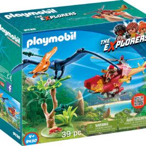 CERCETATOR - ELICOPTER SI PTERODACTYL-Playmobil-Dinos-PM9430