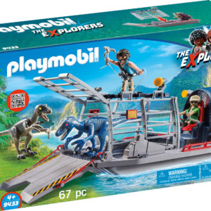 CERCETATORI - FERIBOT SI RAPTOR-Playmobil-Dinos-PM9433