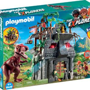 CERCETATORI - FORTAREATA SI T-REX-Playmobil-Dinos-PM9429