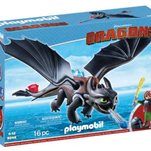 HICCUP SI TOOTHLESS-Playmobil-Dragons-PM9246