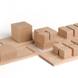 Intreg-multimi-fractiuni-set educativ volumetric lemn Erzi Didactopia