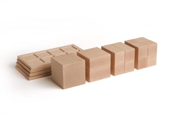Intreg-multimi-fractiuni-set educativ volumetric lemn Erzi Didactopia 2
