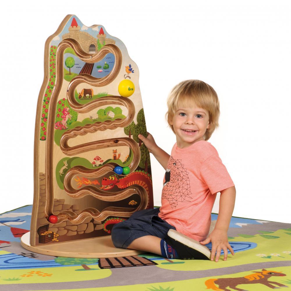 Panou Lumea Basmelor, labirint vertical lemn, cu baza circulara, Erzi Germania