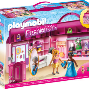 SET MOBIL BUTIC CU HAINE-Playmobil-Take Along Fashion Boutique-PM6862