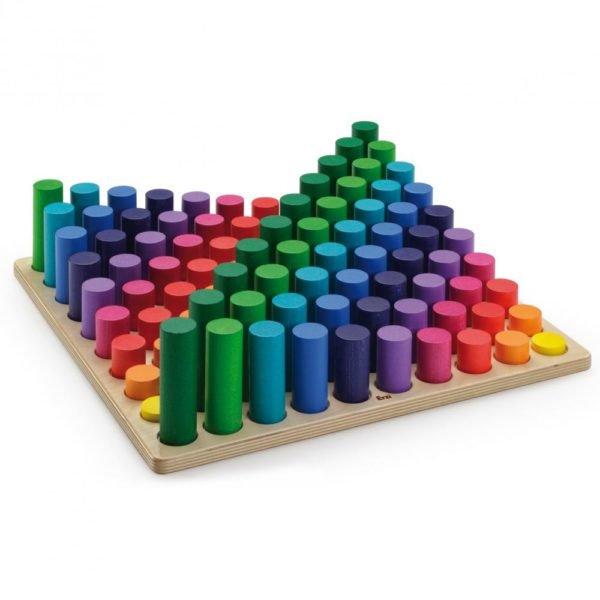 Set lemn multicolor sa invatam multimile Erzi Evertoys 2