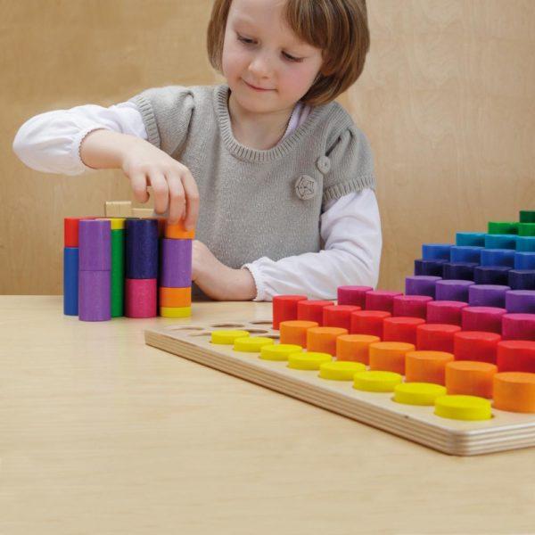 Set lemn multicolor sa invatam multimile Erzi Didactopia