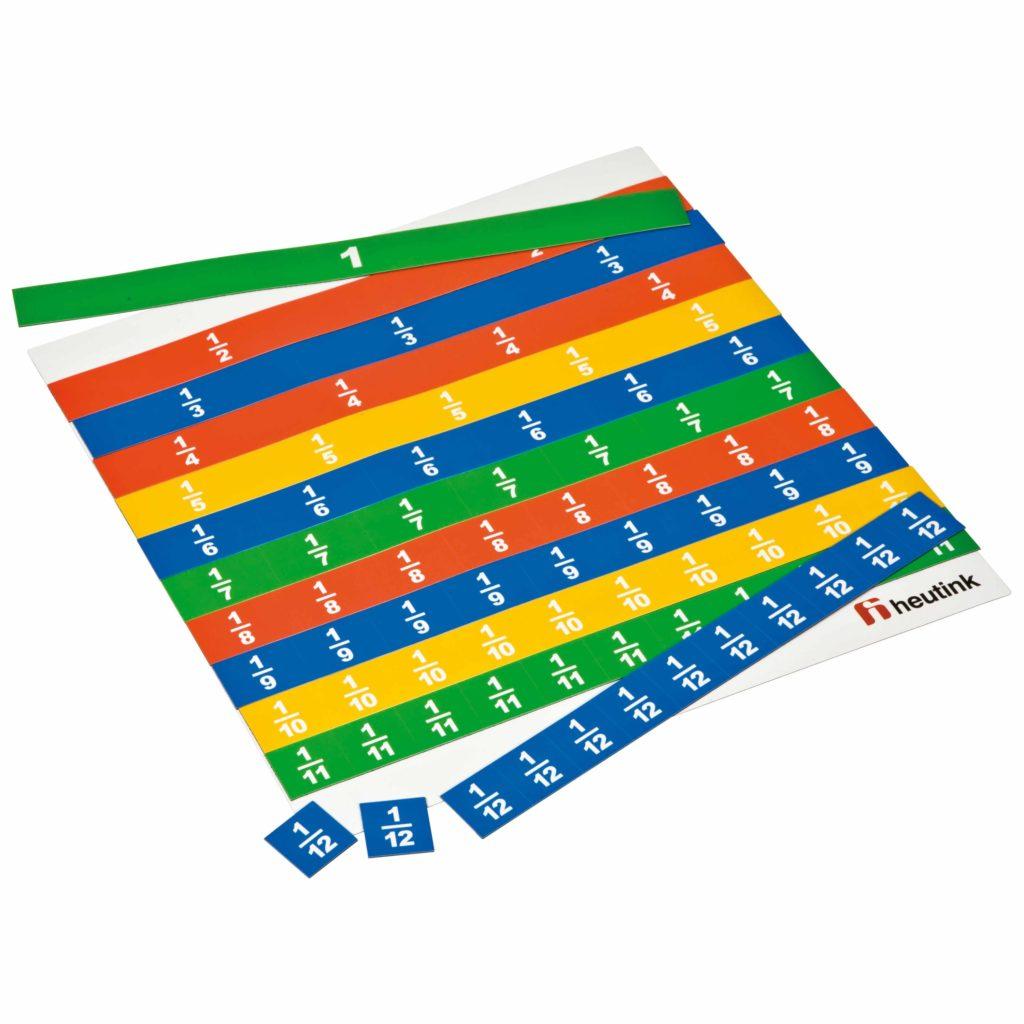 Set magnetic pentru învățarea fracțiilor liniare Jegro Didactopia