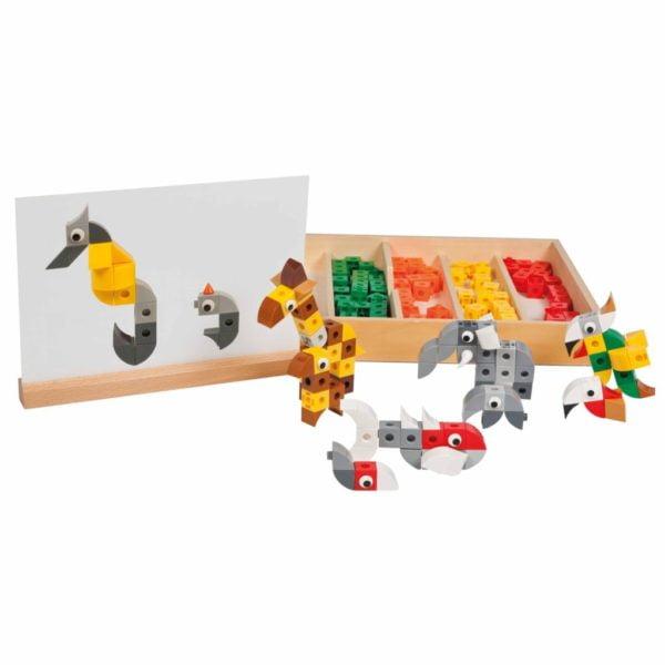 Verti-fix cuburi interconectabile - animale Educo Didactopia
