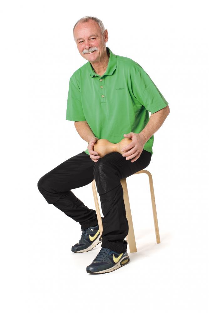 Woodroller XL lung - Rolă masaj muscular 2 bile-Erzi-Didactopia