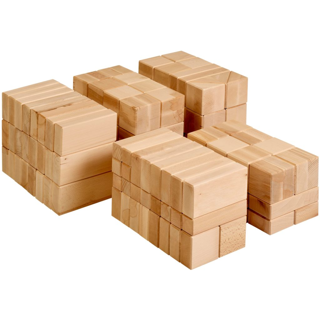 Blocuri mari din lemn, pentru construit- Educo Didactopia