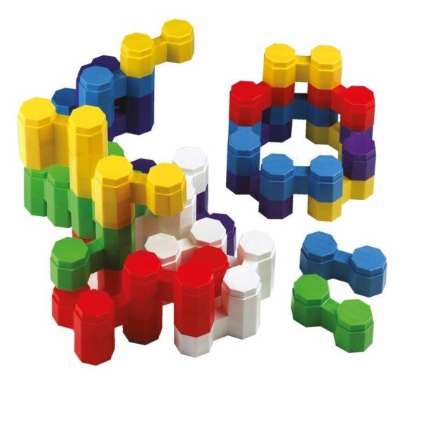 Cărămizi duble, din plastic flexibil, pentru construit- Educo Didactopia