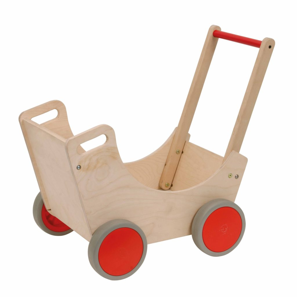 Cărucior din lemn, pentru păpuși sau jucării-Educo-Didactopia