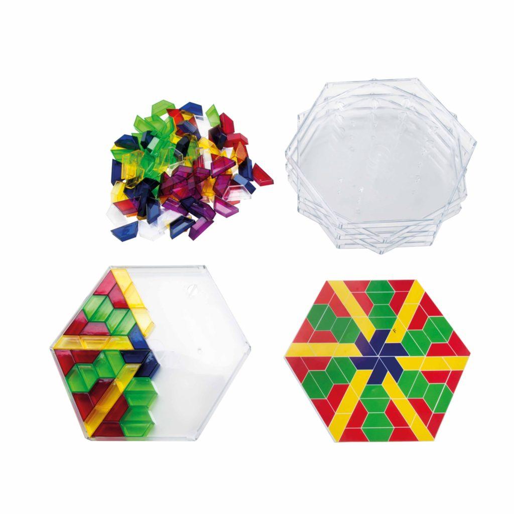 SCOPE- crează modele colorate, setul transparent pentru școală-Jegro, Didactopia