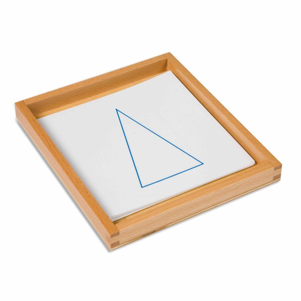 Cartoane de lucru pentru setul de corpuri geometrice solide - original Montessori - Nienhuis