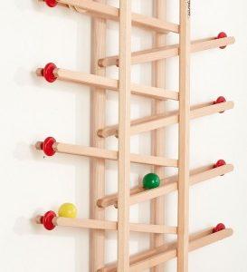 Circuit bile lemn - fixare perete