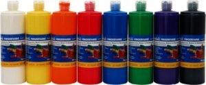 Culori pictura cu degetele - selectie 8 culori x 750ml