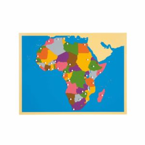 Harta Africa - Puzzle educativ - geografie - Montessori original