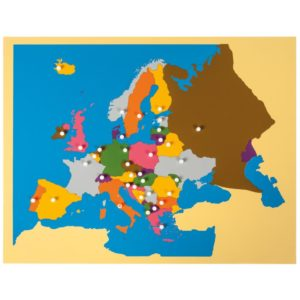 Harta Europei - Puzzle educativ - geografie - Montessori original