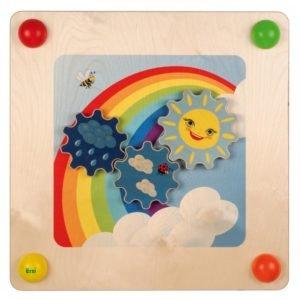 Panouri senzoriale bebe - Baby Path - curcubeul cu rotite - mobilier senzorial - Erzi Germania