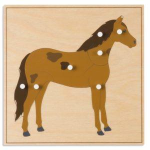 Puzzle lemn educativ - animale - cal - Montessori original