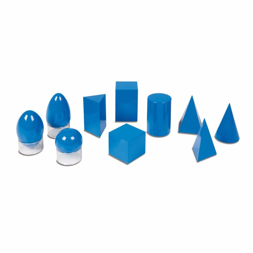 Set corpuri geometrice solide - original Montessori - Nienhuis