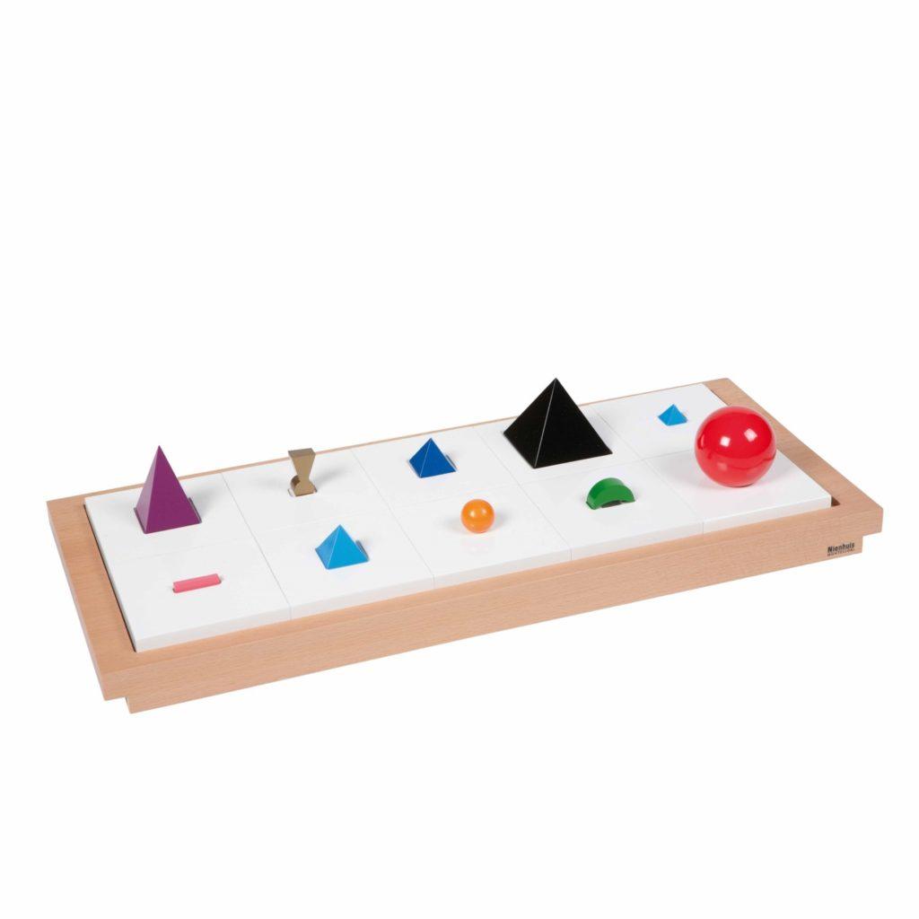Simboluri gramaticale lemn 3D - original Montessori - Nienhuis