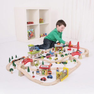 Circuit auto si  feroviar  (125 piese) - Seturi de tren - BigJigs