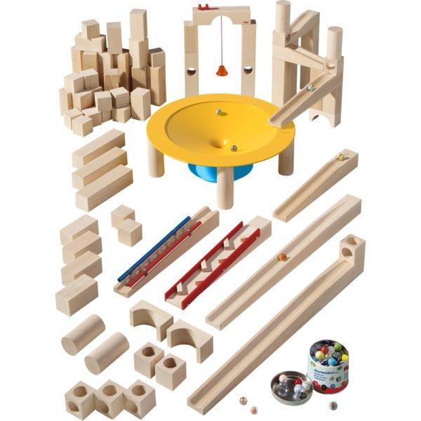 Circuit bile lemn XXL - Master Set - Haba Germania