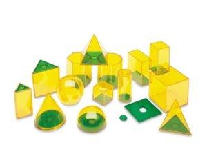 Forme geometrice GeoSolids - 14 piese - Jocuri matematice - Learning Resources