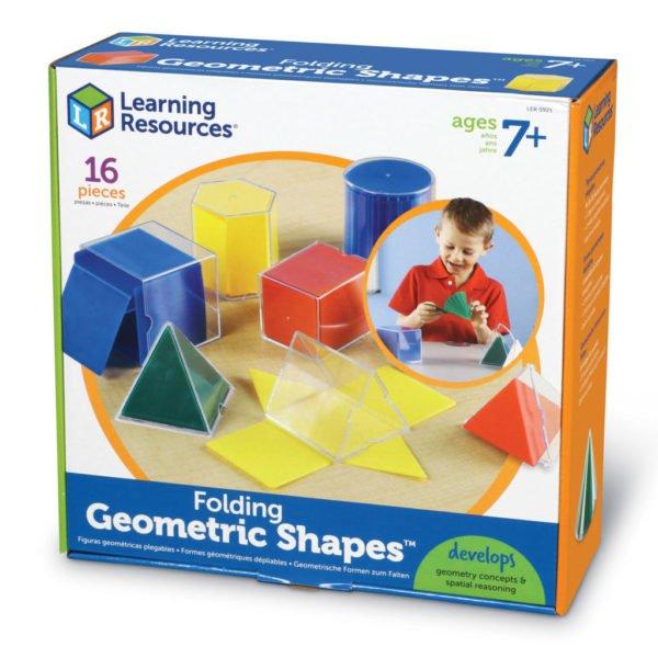 Forme geometrice pliante - 16 piese - Jocuri matematice - Learning Resources