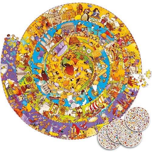 Istoria omenirii - Puzzle educativ şi de observatie - Circular - 65 cm diametru Djeco 2