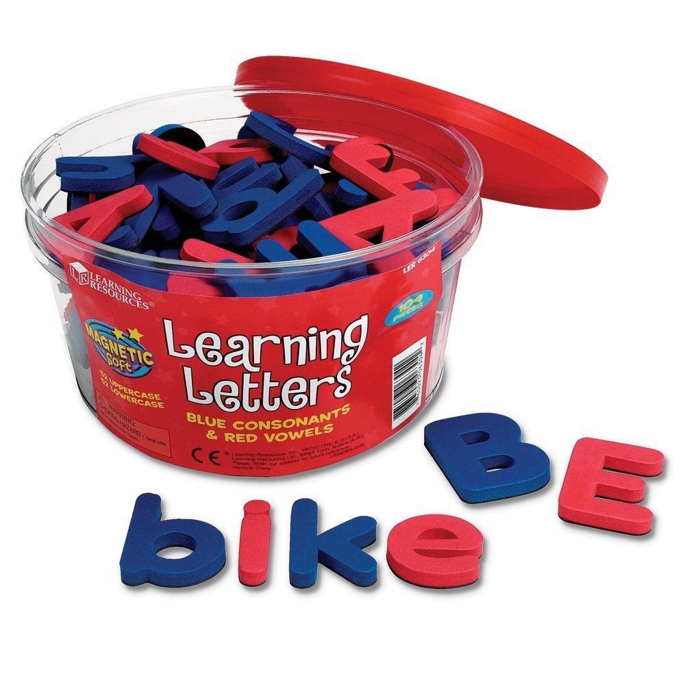 Litere magnetice mari si mici - Jucarii lingvistice - Learning Resources