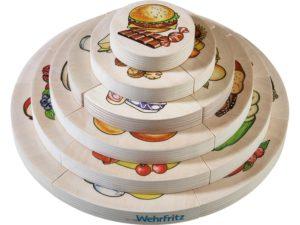 Piramida nutritionala - puzzle 3D lemn educativ copii - Haba Education