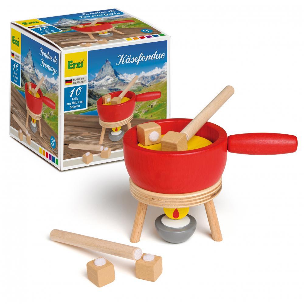 Set alimente de jucarie - lemn - Fondue - Erzi Germania
