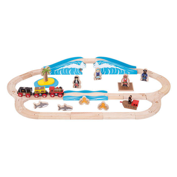 Set cu trenuletul piratilor - Seturi de tren - BigJigs