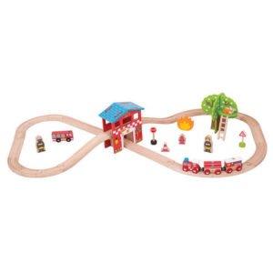 Set cu trenuletul pompierilor - Seturi de tren - BigJigs