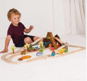 Set trenulet cu dinozauri - Seturi de tren - BigJigs