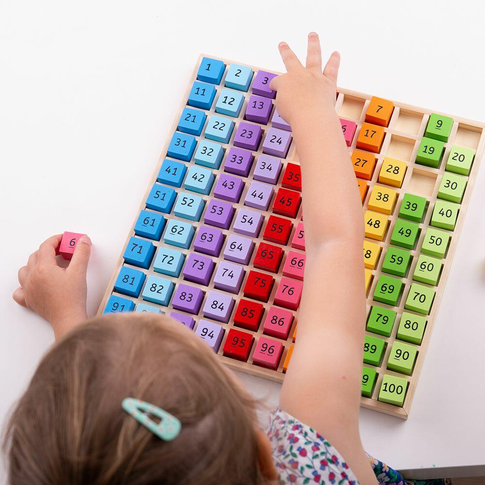 Tabla cu 100 de numere colorate - Jocuri matematice - BigJigs