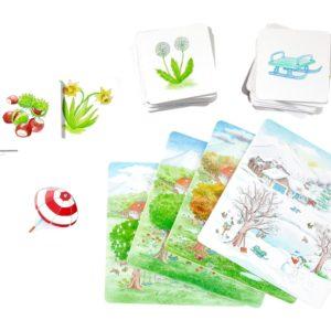 Cartoane educative tematice - pictorial cu tema Viata la tara