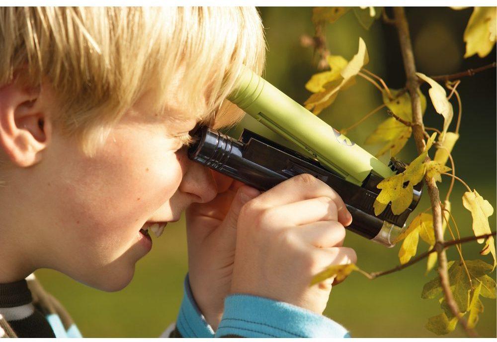 Microscop portabil outdoor copii - Set explorare in natura cu LED - Haba Terra Kids