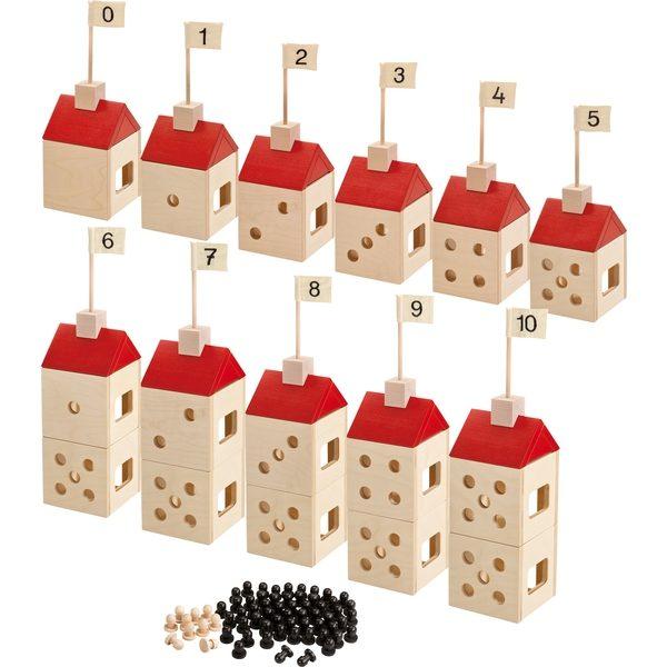 Casutele cu numere - Casute lemn XL - Willy in lumea numerelor - Haba Education