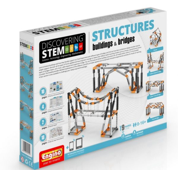 Engino Discovering STEM - Set Structuri - cladiri si poduri