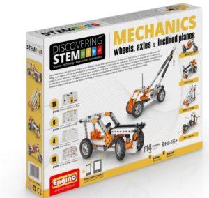 Engino Discovering STEM - Set mecanica - roti axuri planuri inclinate