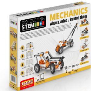 Engino Discovering STEM - Set mecanica - roti axuri planuri inclinate
