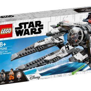 LEGO-75242-TIE Interceptor Asul negru (75242)-LEGO Star Wars