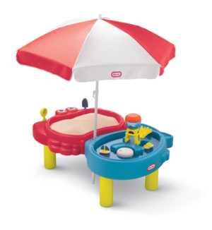 Masuta Pentru Nisip Si Apa Cu Umbreluta-Little Tikes-SAND AND WATER TABLES-LT401L0 prin Didactopia by Evertoys