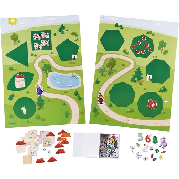 Panou magnetic - Jocul numerelor - Willy in lumea numerelor - Haba Education